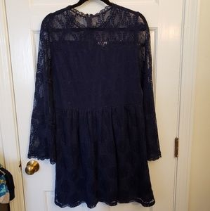 Xhilaration Navy Lace Dress